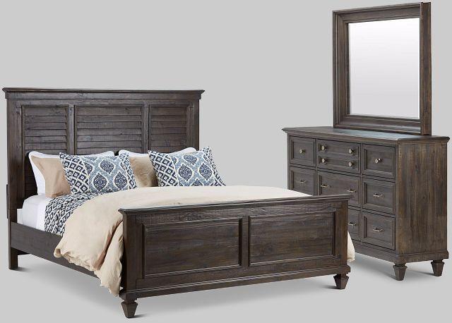 Sonoma Dark Tone Panel Bedroom