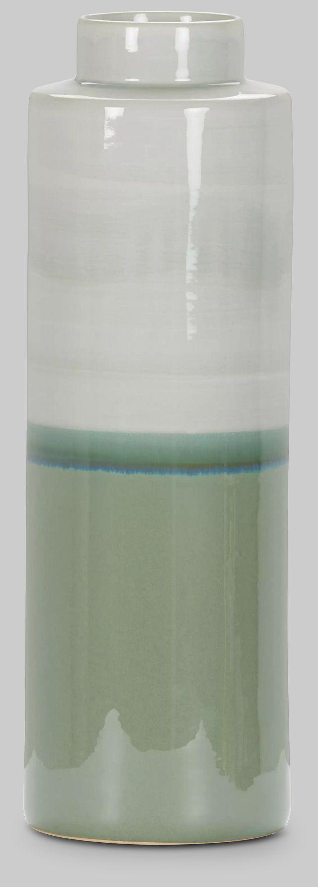 Mazu Green Tall Jar,  (2)